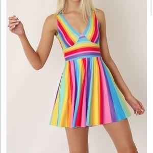 Black milk candy rainbow dress small blackmilk